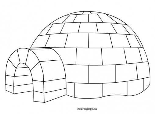Igloo Snowman Coloring Pages Igloo Printable Snowman