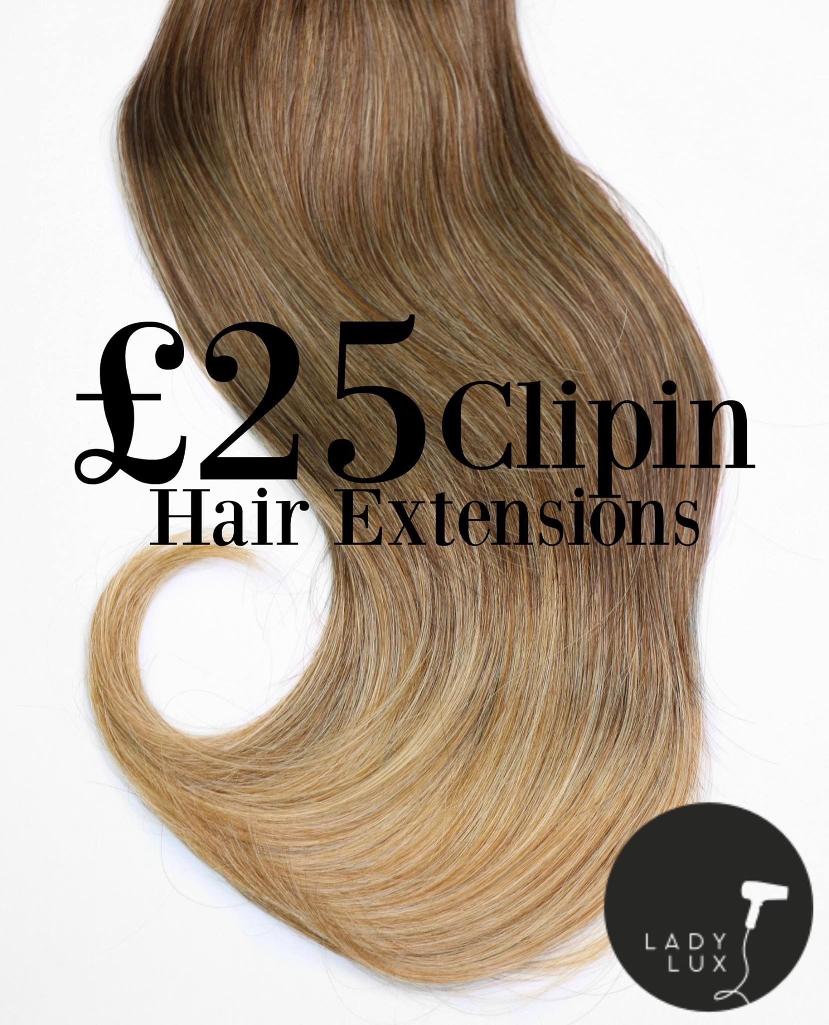 Ladylux Synthetic Heat Resistant Clip In Balayage Hair Extensions