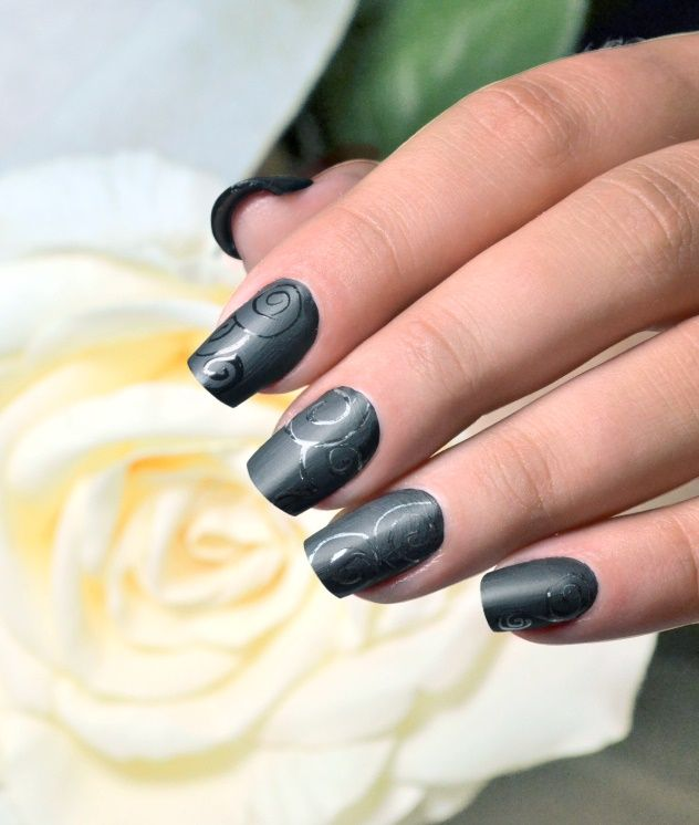 Learn How To Create Edgy Matte Nail Art Nsi Nails Blog