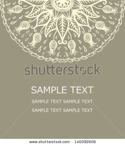 Vector floral pattern card stock vector henna designs vector floral pattern card stock vector stopboris Gallery