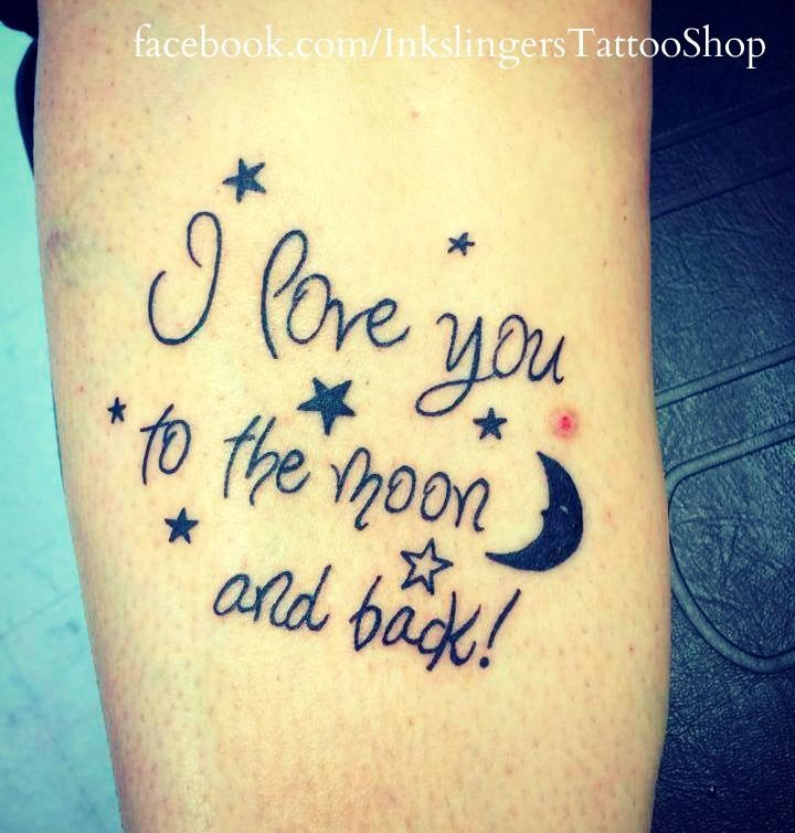 707c1f442 i love you to the moon and back tattoos | love you to the moon and back  tattoo | tattoos | Pinterest