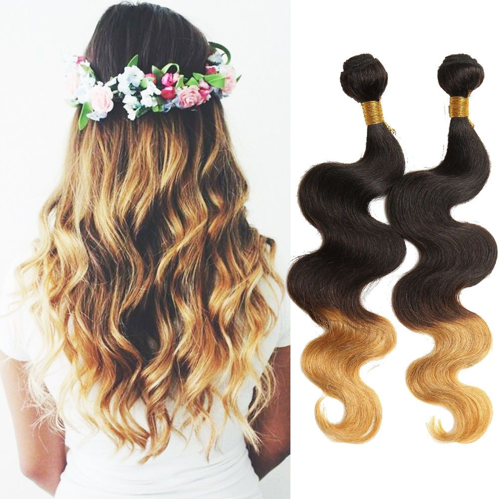 Human Hair Extensions 1b427 Ombre Body Wave Hair Wefts Us Ship