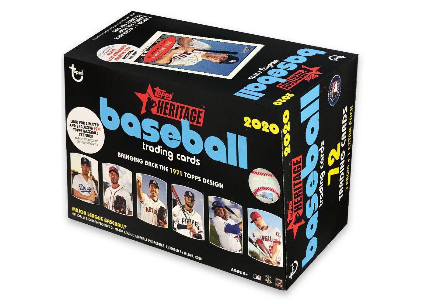 Topps 2020 Heritage Baseball Trading Card Blaster Box in