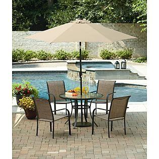 essential garden bartlett round dining table seats 4