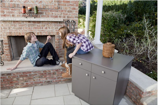 Stay on Decks polymer outdoor cabinets are great for ...