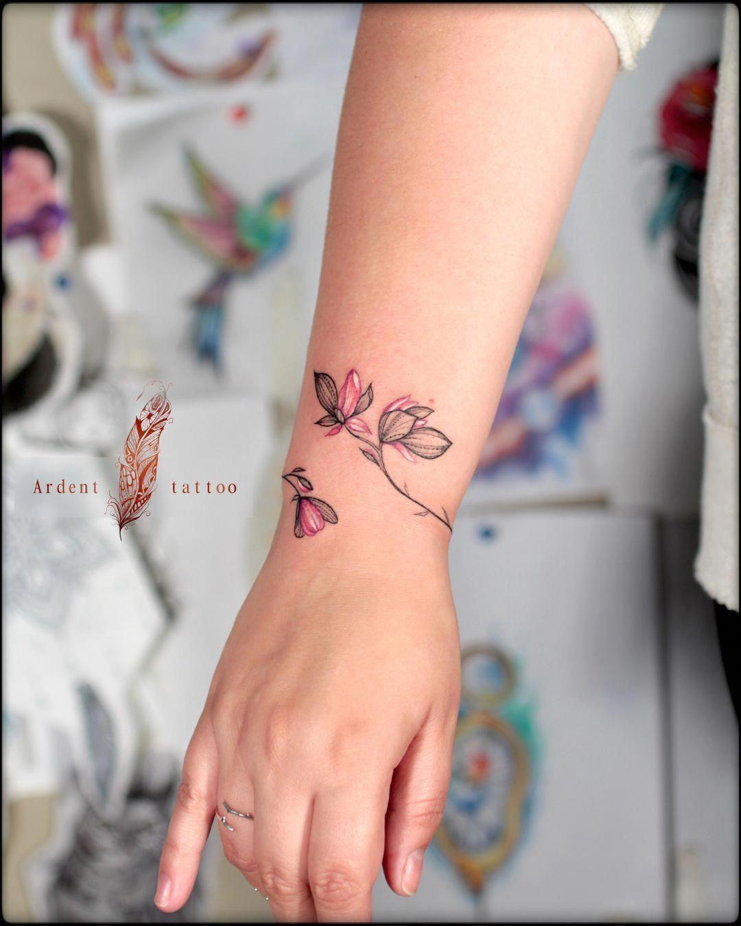 Bracelet Tattoo Bracelet Tattoos Flower Wrist Tattoos Tattoo
