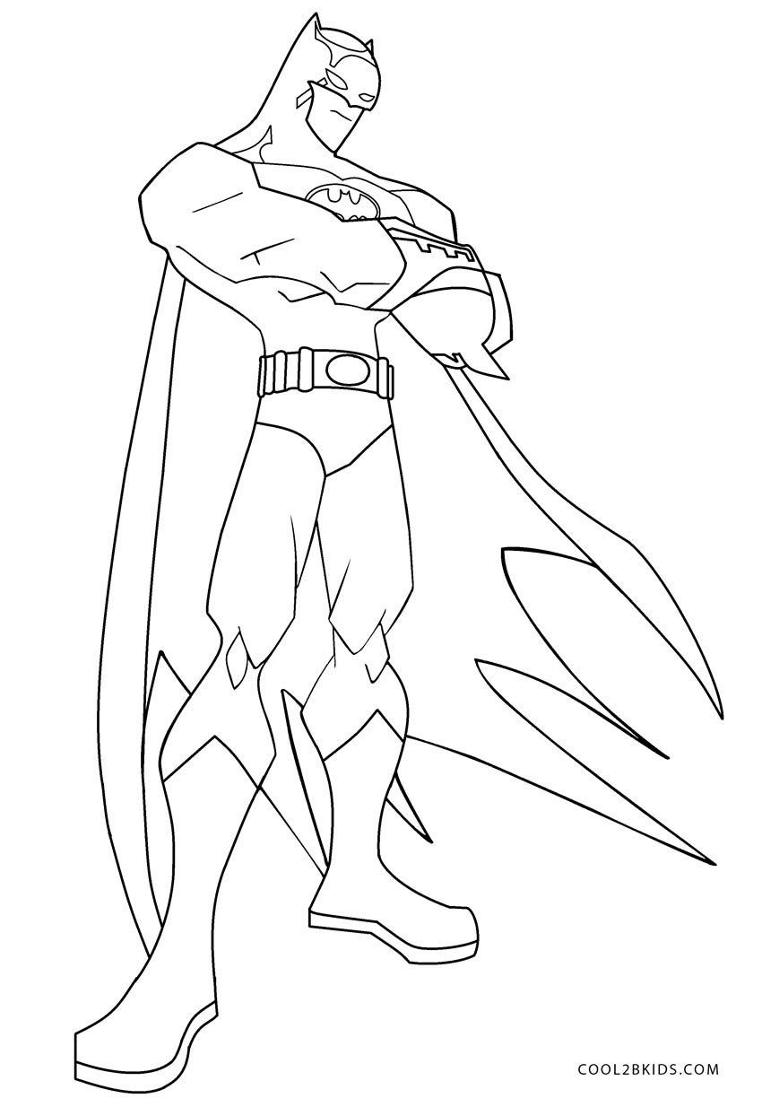 Batman Coloring Pages For Kids Free Printable Batman Coloring Pages For Kids Batman Coloring Pages Cartoon Coloring Pages Superman Coloring Pages