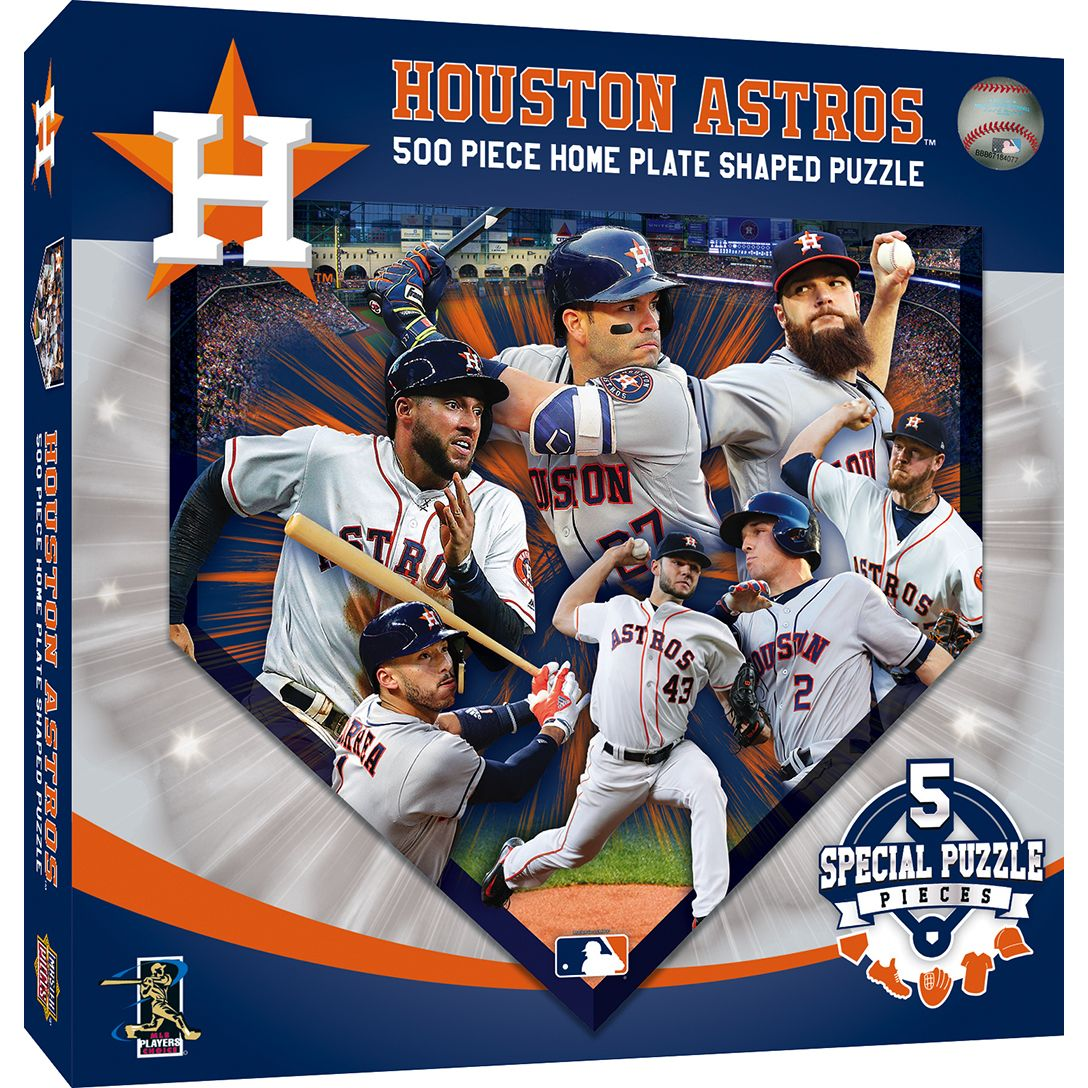 Houston Astros 500 Piece Home Plate Shaped Jigsaw Puzzle Houston Astros Shape Puzzles Astros