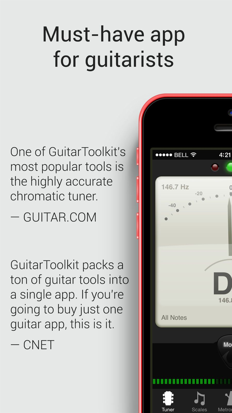‎GuitarToolkit tuner, metronome, chords & scales on the
