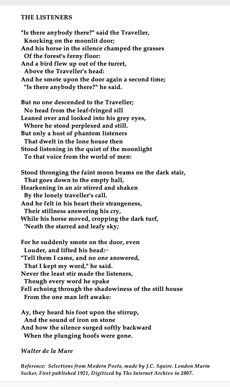 Walter De La Mare British Author Poem Beautiful Inspirational By Famou Poets The Dawn Awake Explanation