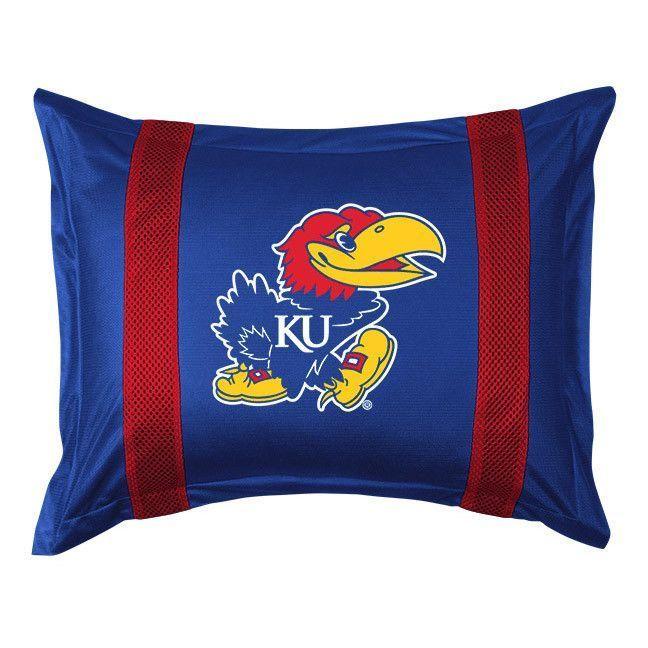 Kansas Jayhawks Sidelines Pillow Sham