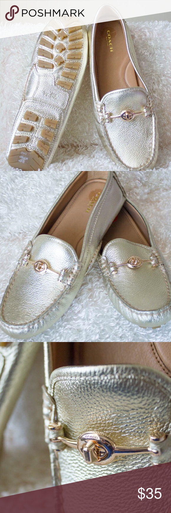 Coach Loafers *BRAND NEW* Never worn. Purchased by my husband as a gift...but in the wrong size. Coach Shoes Flats & Loafers