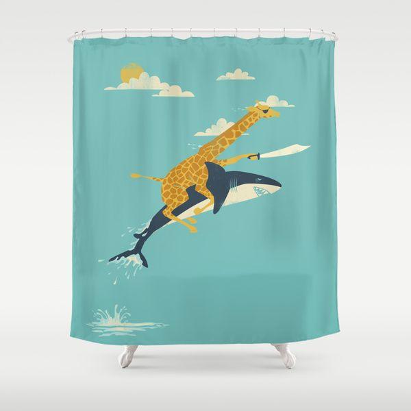 Shower Curtain With Hooks Alligator Printed Waterproof Bath