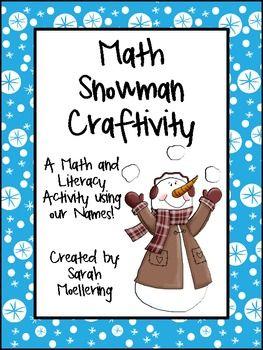 Math Snowman Craftivity (Freebie!) - Sarah Moellering - TeachersPayTeachers.com