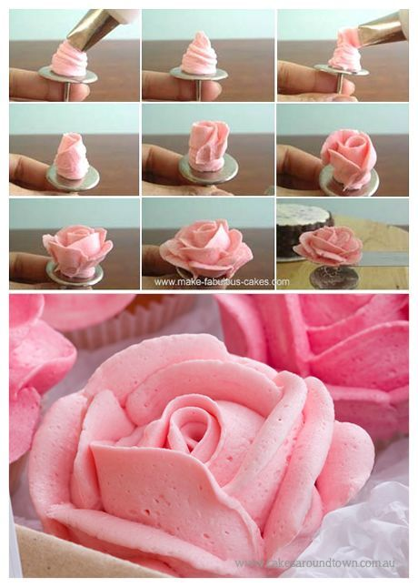 How To Make Buttercream Roses With Tip 104 Cake Decorating Techniques Butter Cream Cookie Decorating