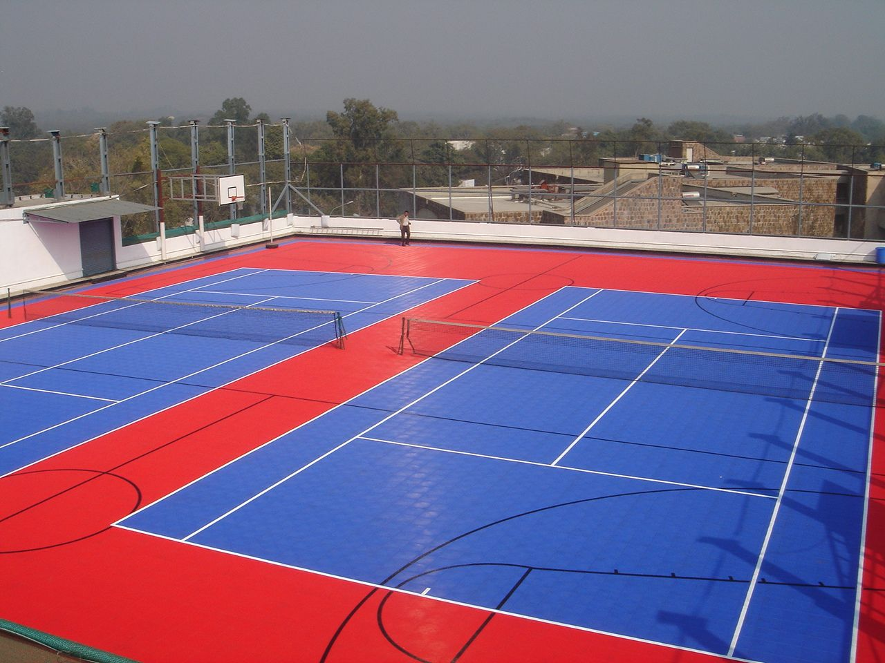 Roof Top Artificial Surface Muga Sports Pitch Surfacing