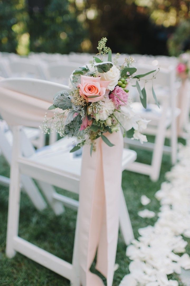 sweet pink calamigos ranch wedding wedding ceremony flowerswedding