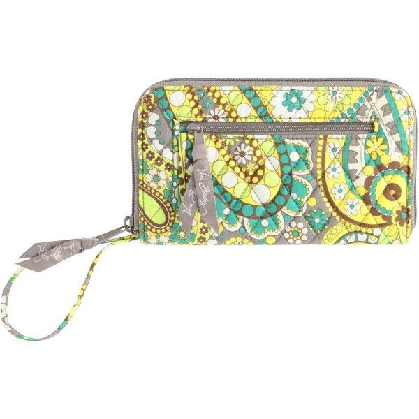 Lovez my Vera Bradley Zip-Around Wallet in Lemon Parfait - Polyvore
