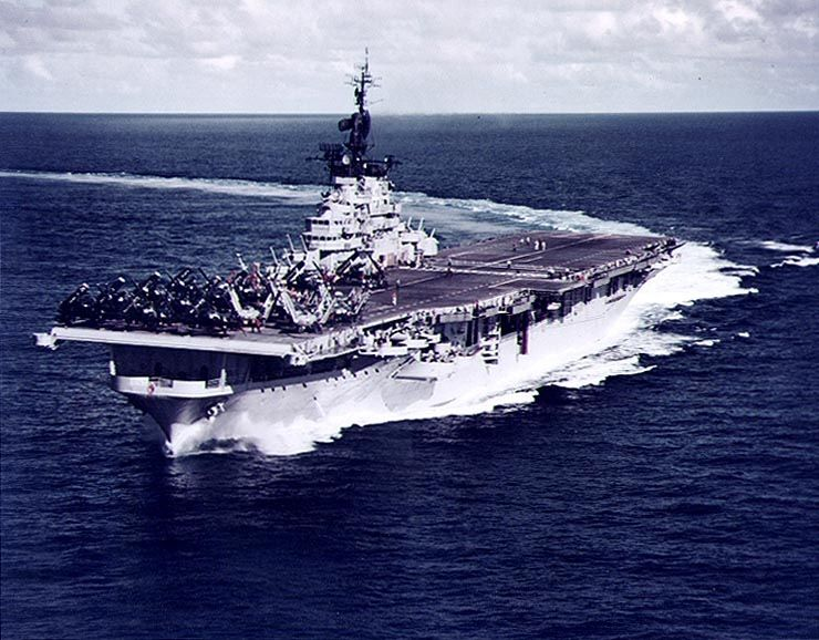 USS Philippine Essex Class aircraft carrier used in 1943.