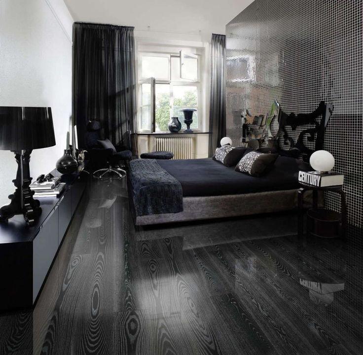 Image Result For Gray Wall Paint With Black Vinyl Flooring Holzboden Dunkler Parkettboden Vinylboden