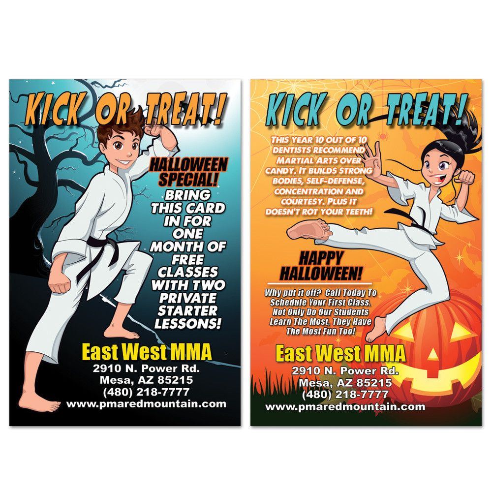 Halloween Ad Card 01 Cards Halloween Karate Party