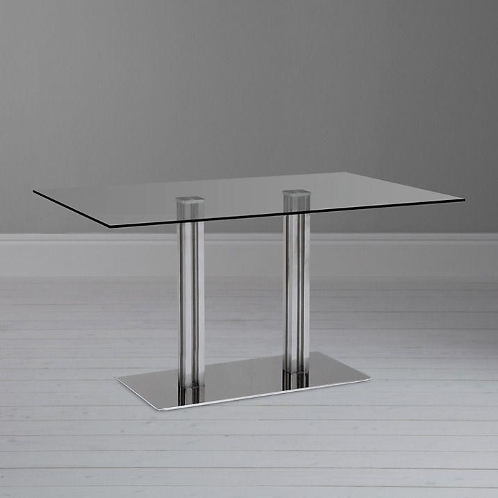 John Lewis Tropez Rectangular 6 Seater Glass Top Dining Table ...