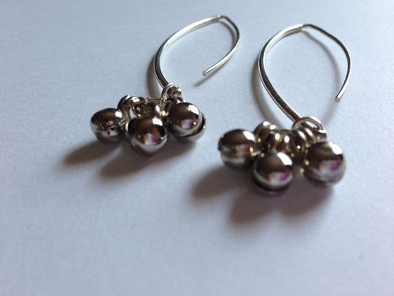sterling silver marquis earrings with silver by MotifsandFusion, $40.00
