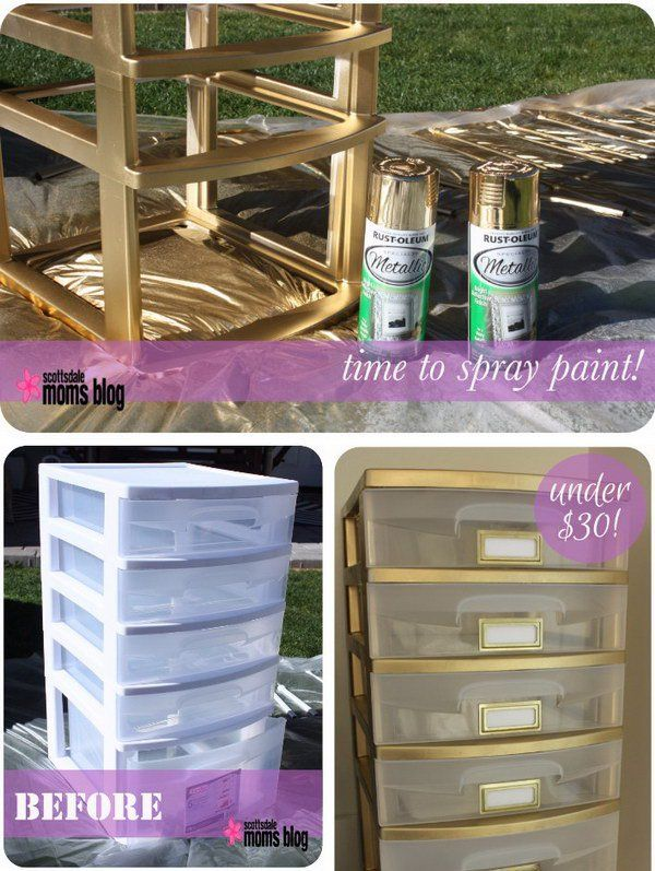 Spray paint is a great invention. It sure has drawbacks like the smell, the fact that aerosols aren't great for the environment and all that, but it also has great advantages that make it popular, especially among DIY fanatics. #spraypainting