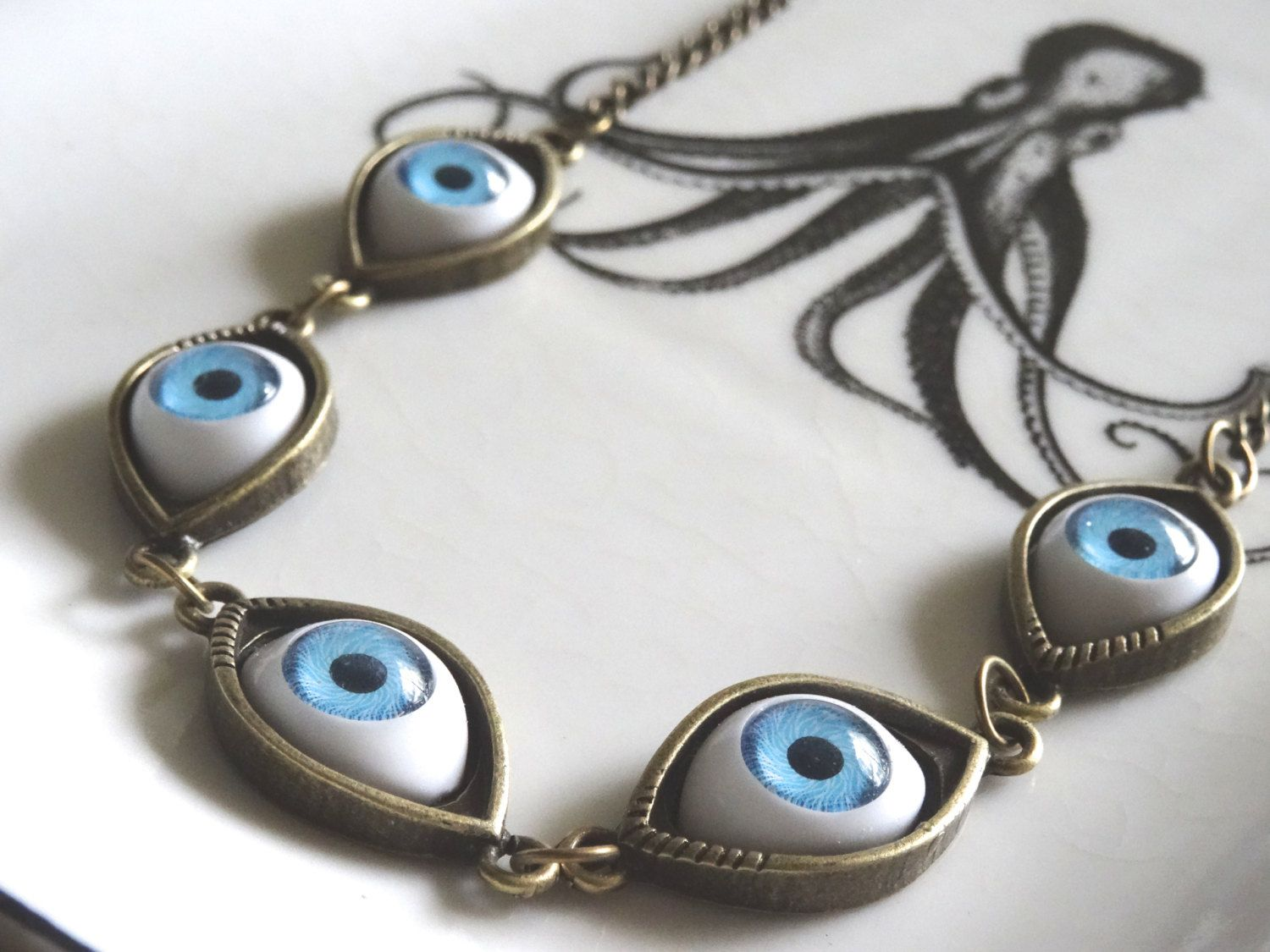 details eyeball custom bloody creepy handmade product products necklace necklaces