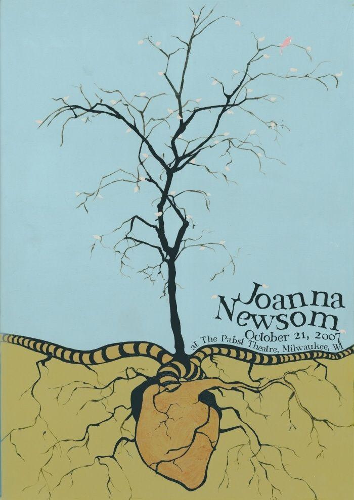 joanna newsom music gig posters | Joanna Newsom Concert Poster Concert poster / gig poster / music ...
