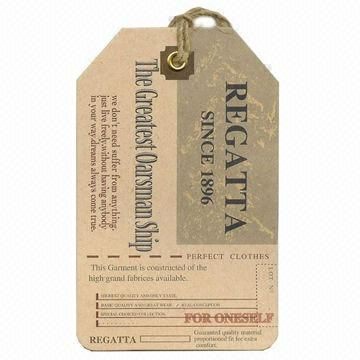 Lady's buttery paper garment hang tags 1)700gsm art paper 2)nice ...