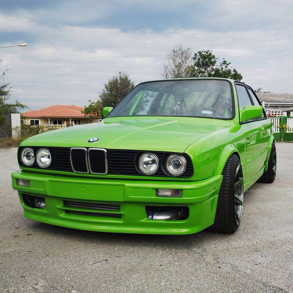 Bmw E30 M3: Bmw E30 M106 Turbo, Mantis Green.