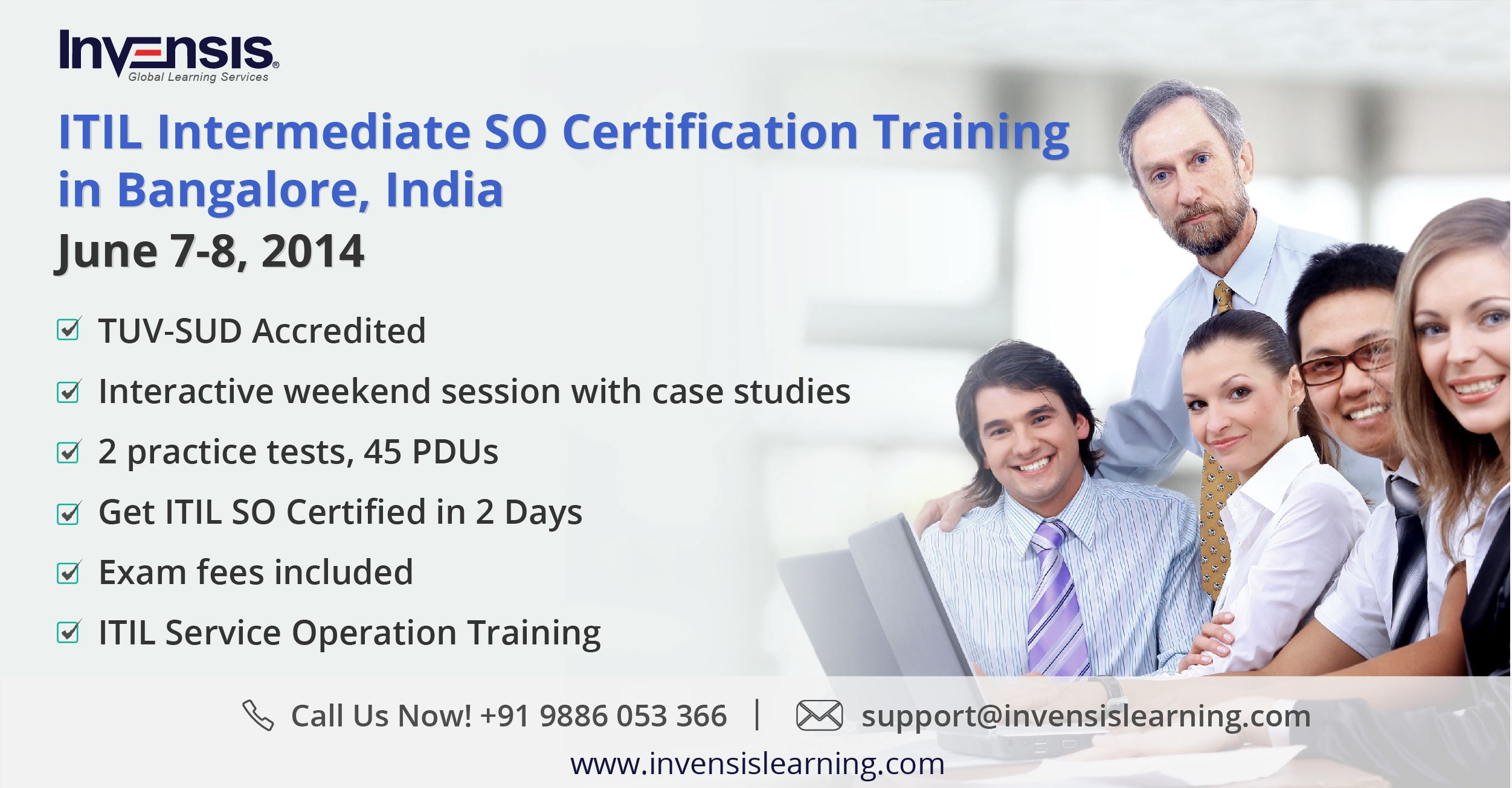 Itil Intermediate So Certification Training In Bangalore India