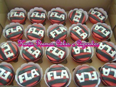 22ea3128f4 Karin Ramos Cakes e Cupcakes  Bolo Bola de Futebol e Cupcakes do Flamengo.