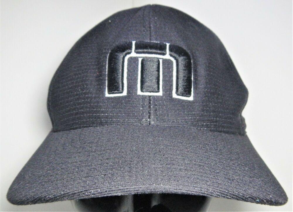 f5d773e1f Travis Mathew B-Bahamas Black Flex Fit L/XL Hat Embroidered M ...