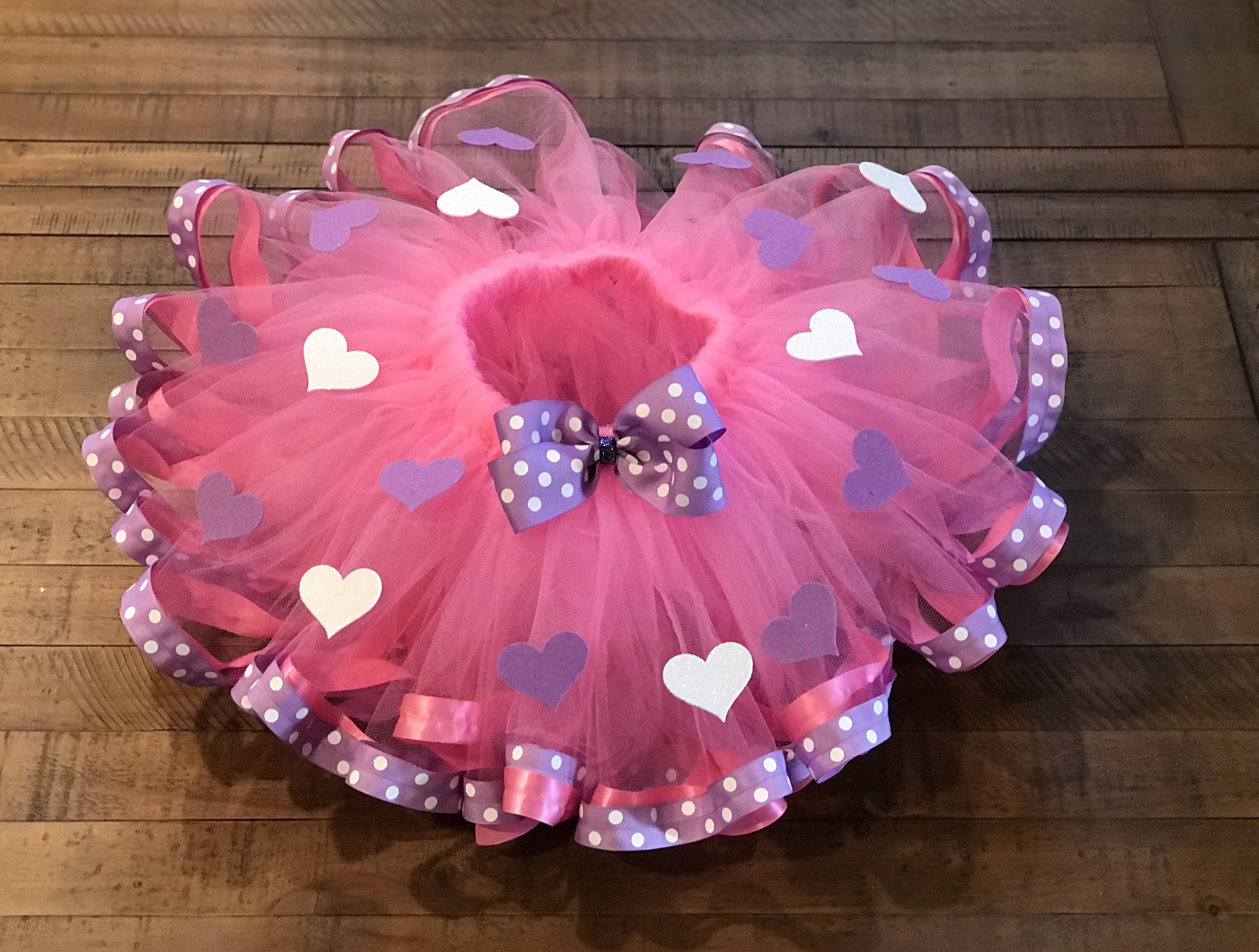 Valentine Day Toddler Girls Tulle Skirt Ruffled You Choose Three Tiered