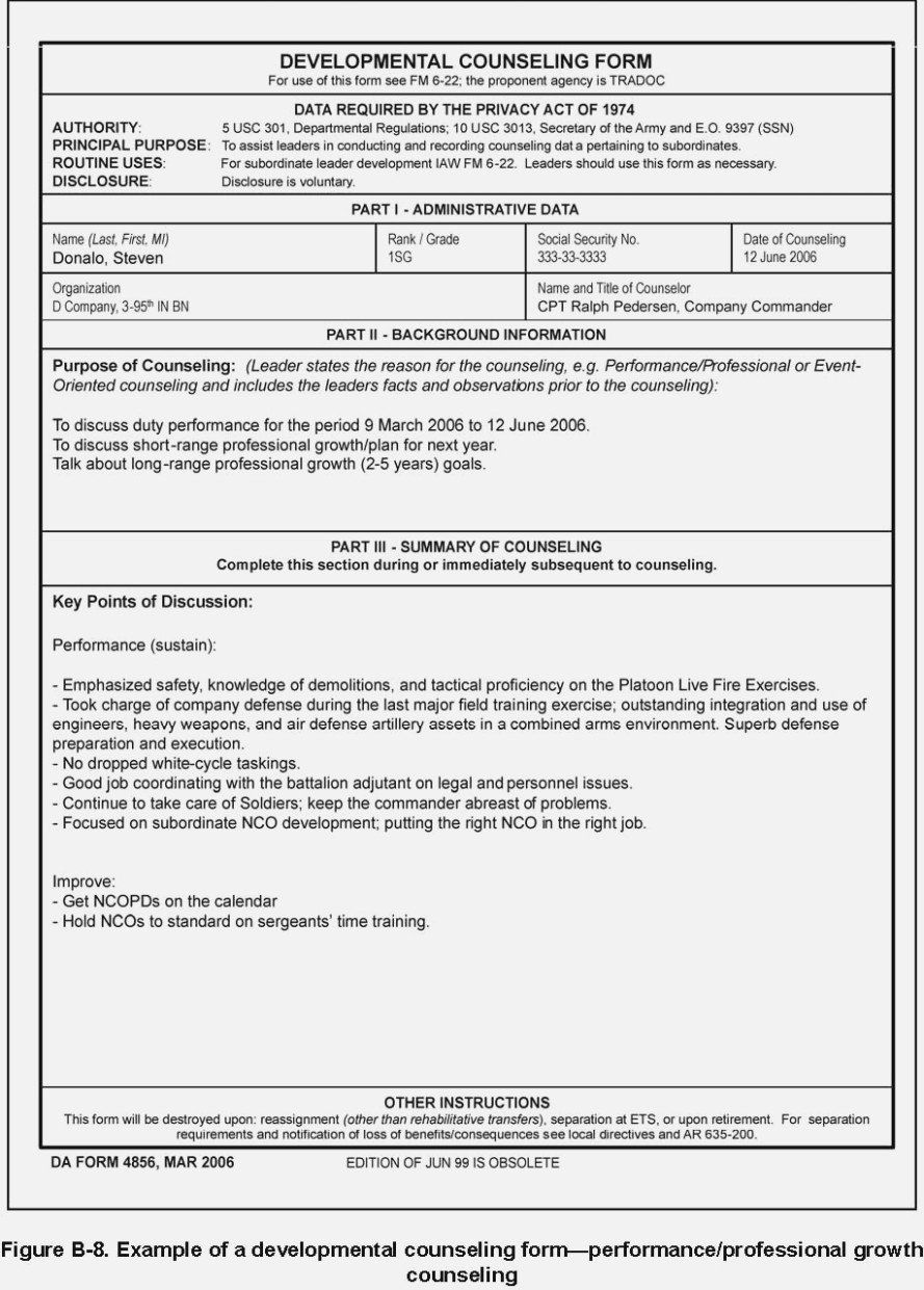 Da Form 4856 Download Da 4856 Monthly Examples In 2020 Teachers