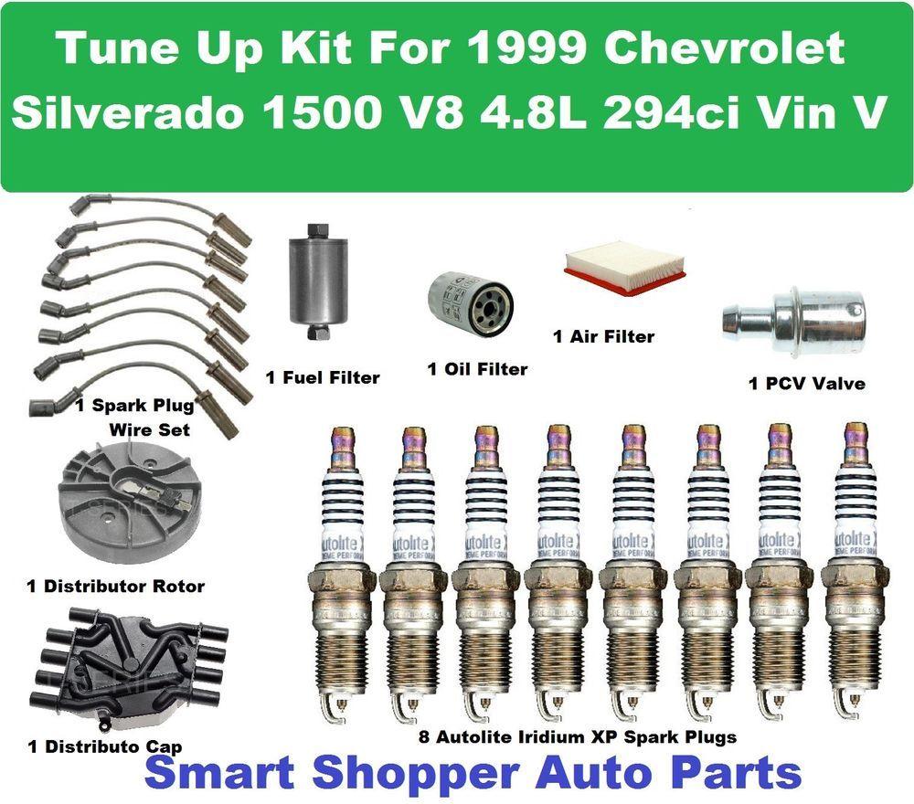 Tune Up Kit for 1999 Chevrolet Silverado Vin V Spark Plug, Filter ...