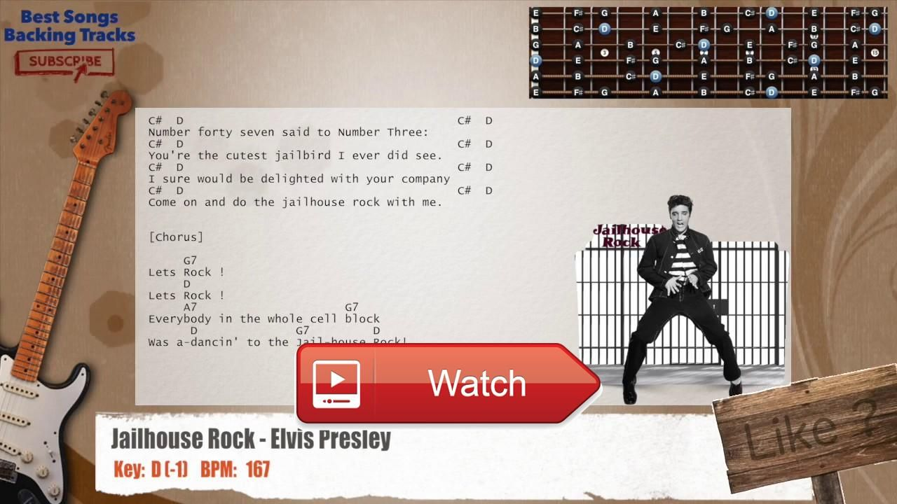 Jailhouse Rock Elvis Presley Guitar Backing Track With Chords And