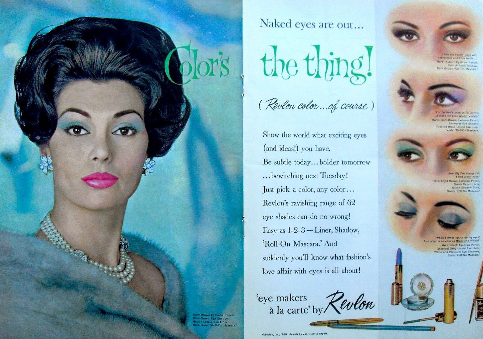Makeup for black dress green eyes  Colorus the Thing  Vintage ads Vintage makeup ads and Makeup ads