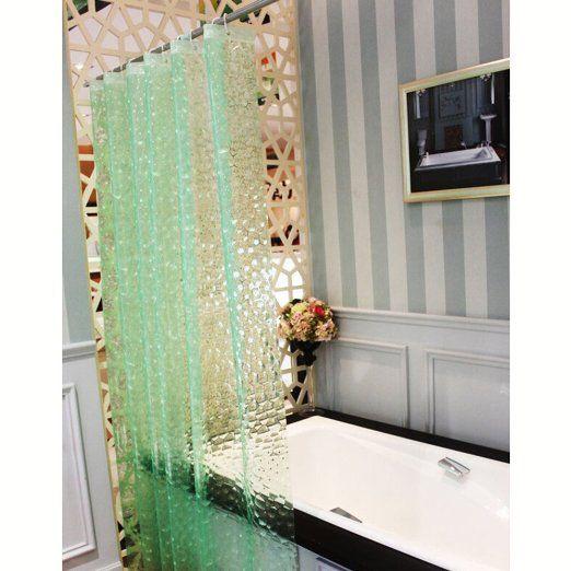 JBtek 3D Effect Bathroom Curtain Water Cube Mold Mildew Free Shower Liner