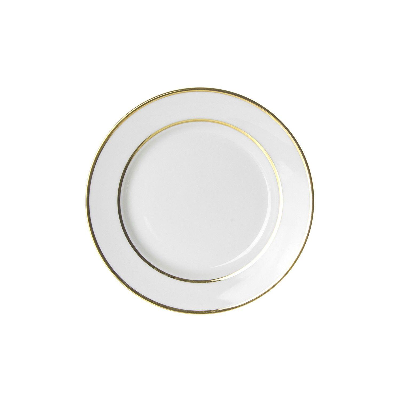 6 3 4l X 3 4h Gold Double Line Bread Butter Plate Case Of 24 Gold Double Line Bread Plate Gold Double Line Porcela Plates 10 Strawberry Street Plate Sets