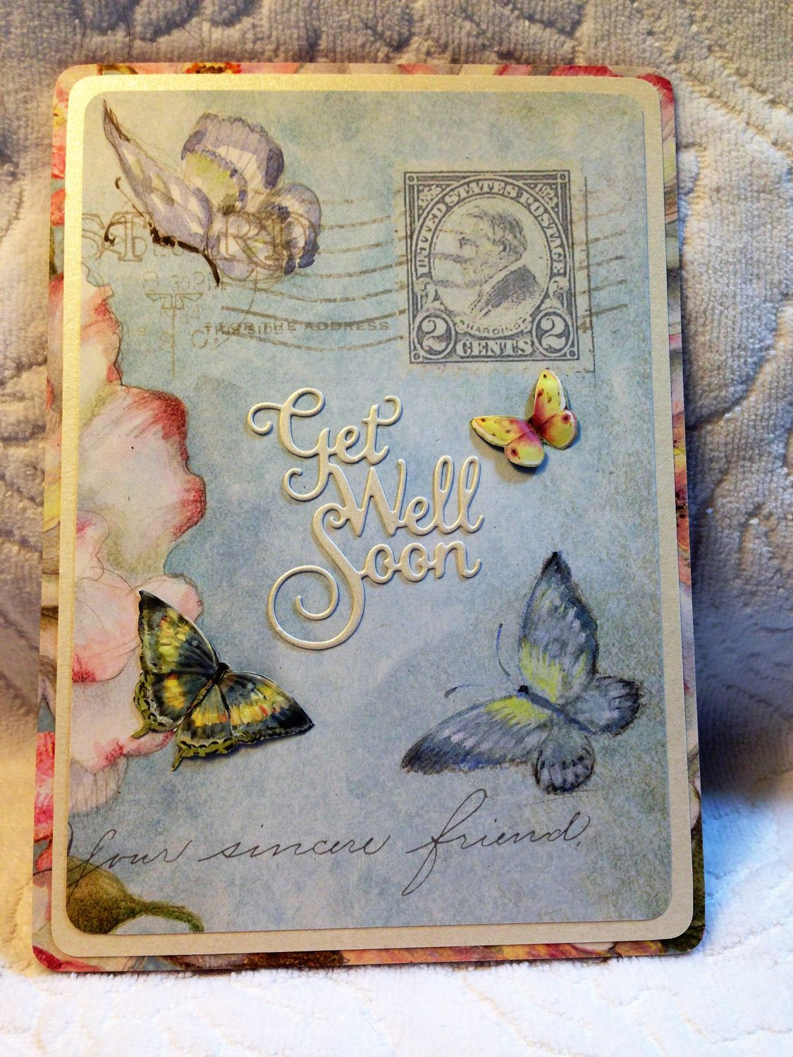 Get Well Soon Handcrafted Greeting Card Wverse Get Well Card