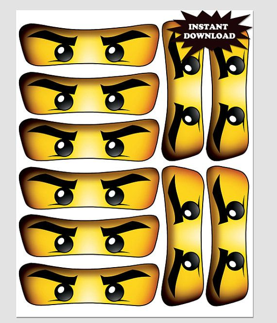 16 x LEGO NINJAGO BIG EYES Stickers for Balloons Bags Plates /& Party Boxes