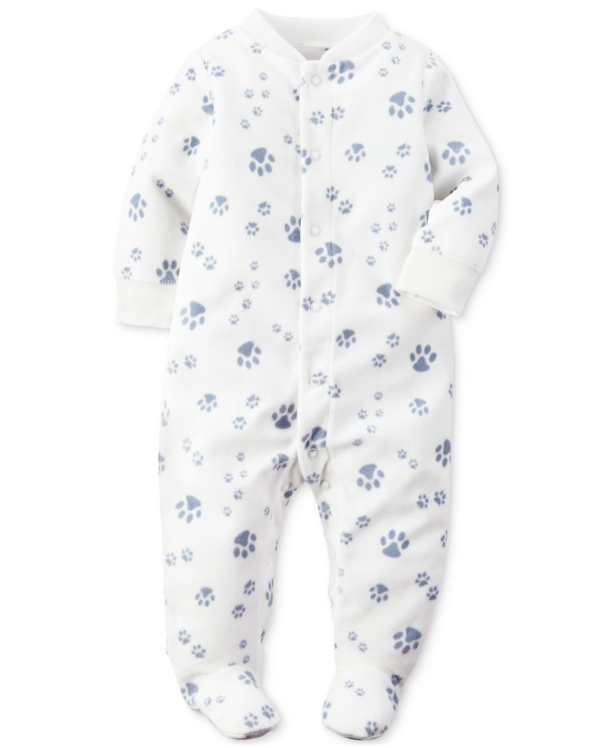 8775a7365 Carter s 1-Pc. Paw-Print Footed Coverall