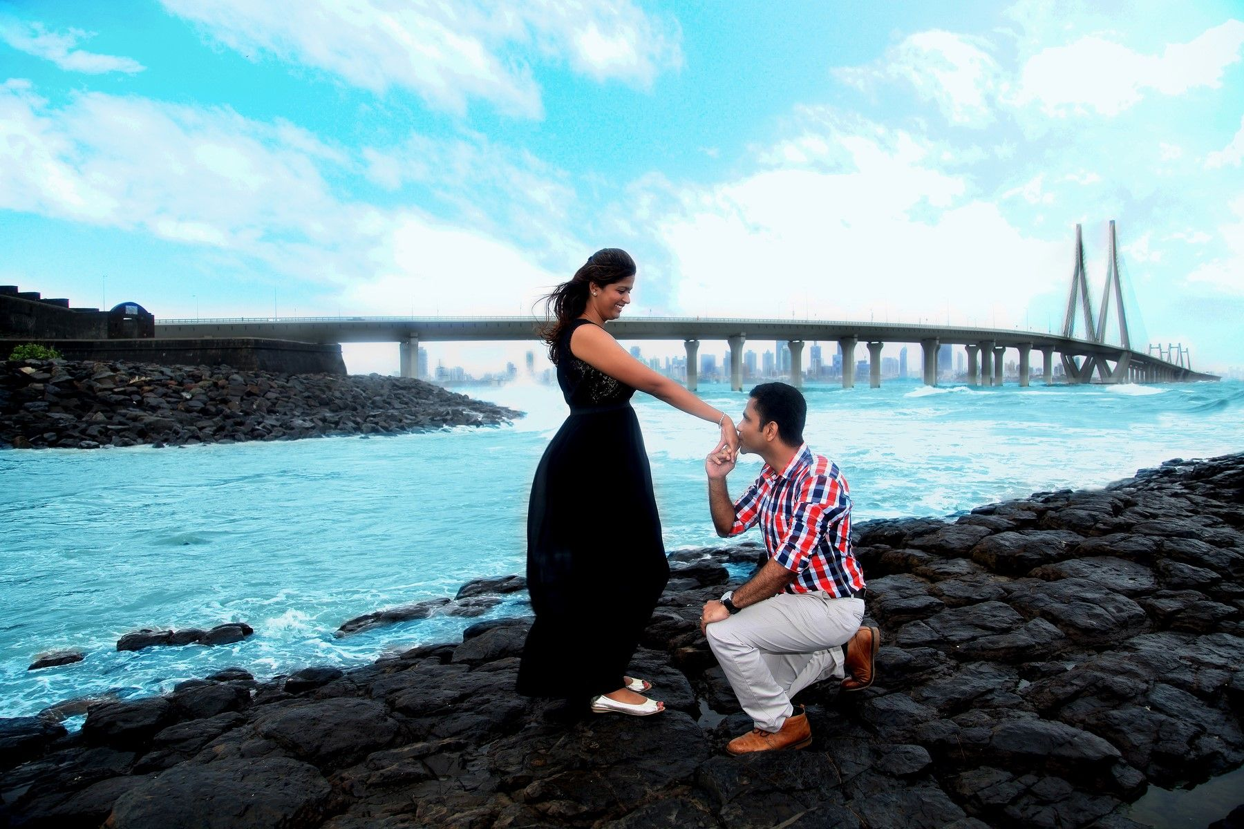 Perfect Pre Wedding Photoshoot Mumbai Sealink Indian