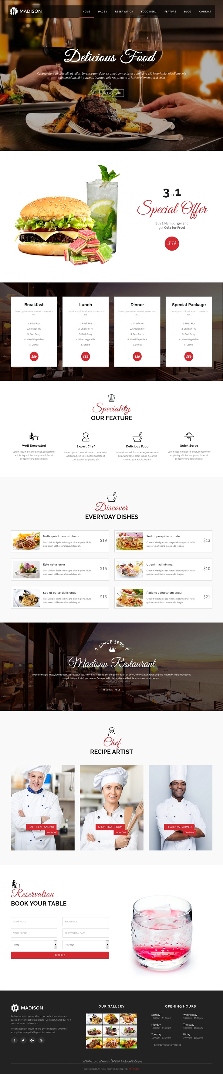 Madison - Bootstrap Restaurant Theme | Business website ...