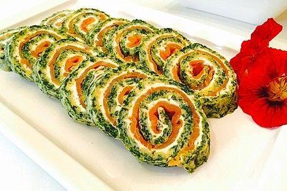 Lachs-Spinat-Rolle #brunchideen