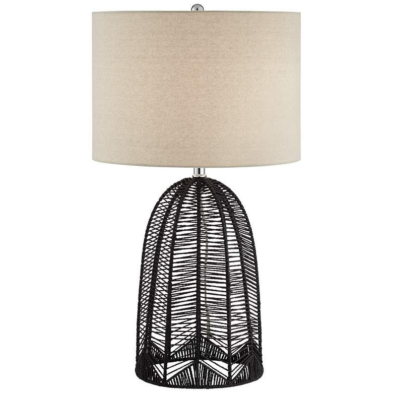 Aria Black Rope Cage Table Lamp 66e19 Lamps Plus In 2020 Cage Table Lamp Cage Table Table Lamp