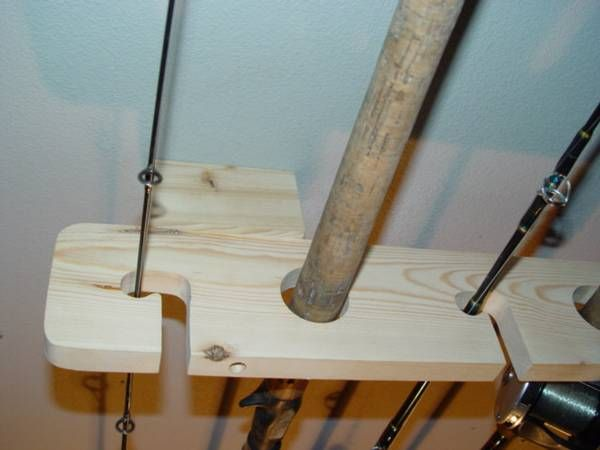 storage diy ceiling easy how rack a rod ceilings to watch fishing holders build cheap overhead